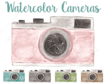 Camera clipart pastel Photography logo cameras Camera painted