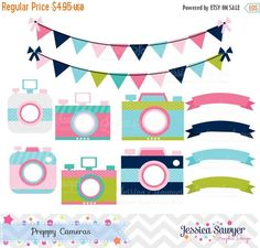 Camera clipart pastel Art DIY DOWNLOAD Pastel