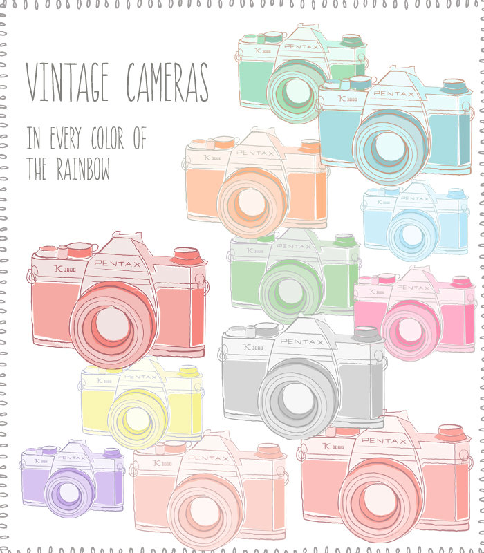 Photography clipart vintage camera Via Vintage Camera Clip Cameras