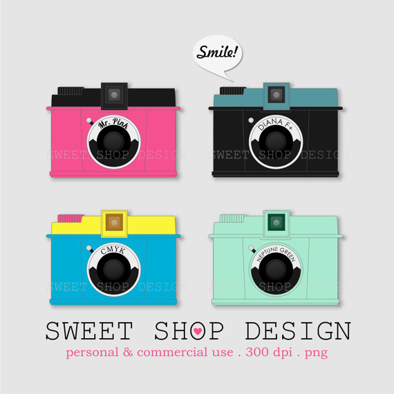 Photography clipart pink camera Photography Download Instant Etsy Ilustration