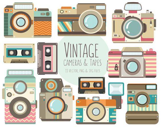 Camera clipart things Vector & JPG Camera Vintage