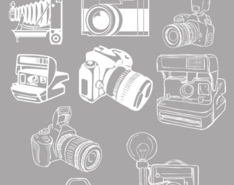 Photography clipart vintage camera Logo files Art Camera Clipart