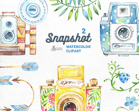 Camera clipart wedding photography Clip handpainted elements wedding clipart