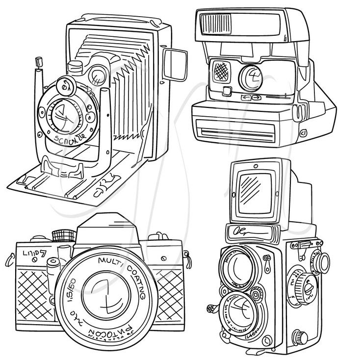 Camera clipart wedding photography Wedding Hand paper Camera Vintage