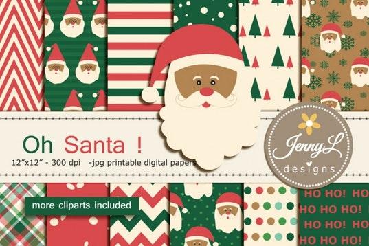 Camo clipart santa Christmas Digitals Papers by Santa