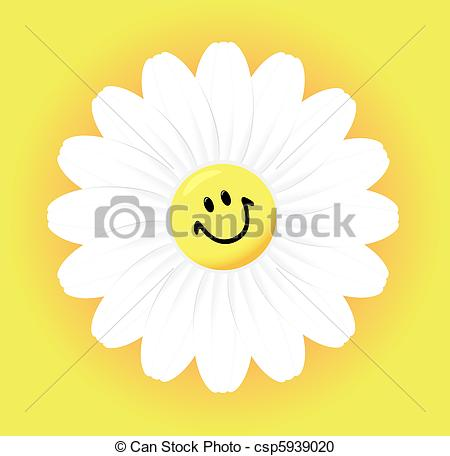 Camomile clipart Yellow on Vector Camomile