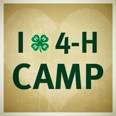 Camp clipart 4 h 4 actually Camp H to