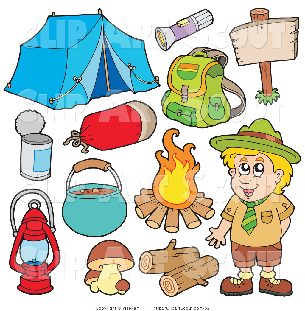 Camper clipart camping gear Royalty Stock Camp Scout Designs