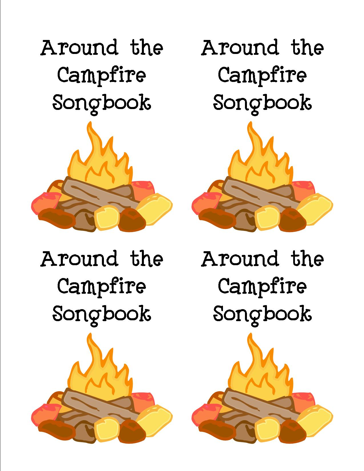 Camp Fire clipart front Songbook Free Camp Mormon Instant