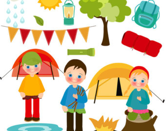 Camper clipart kid campfire Clipart kids Clipart Collection art