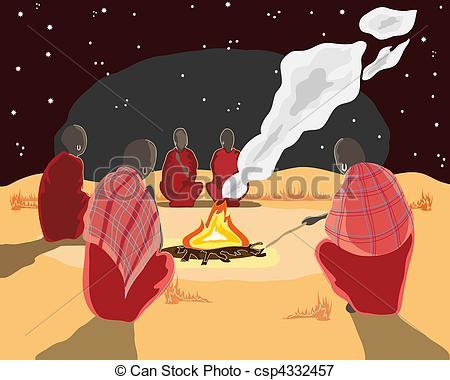 Drawn fire Clip Log 623 Clipart art