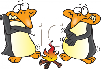 Camp Fire clipart warmth Warm Warming Of Penguins Clipart
