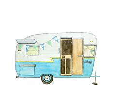 Camper clipart & Free Travel Printables FREE