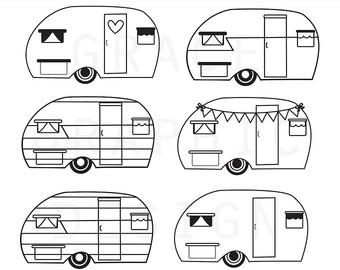Camper clipart Art Clipart digital Camper Commercial
