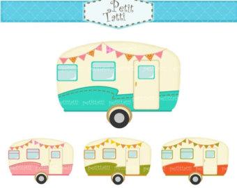 Camper clipart Clip SALE clip caravan car