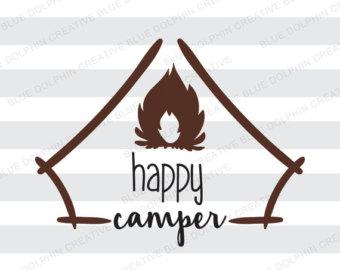 Camper clipart campfire Art Camper  clip Etsy