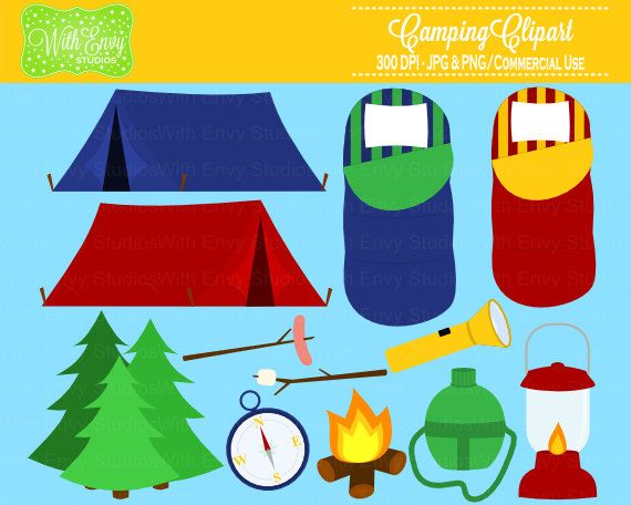 Camper clipart campfire Clipart Clipart Commerical Camping Clipart