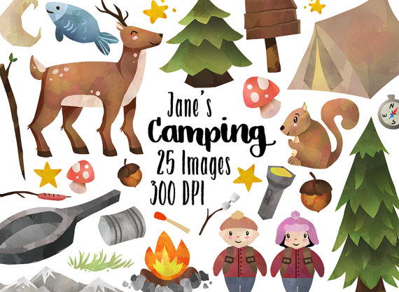 Camper clipart camping gear Trees Camping Camping Download Download