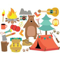 Camper clipart camping trip Clipart Instant art & Personal