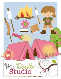 Camper clipart exploration Clip Girls art by