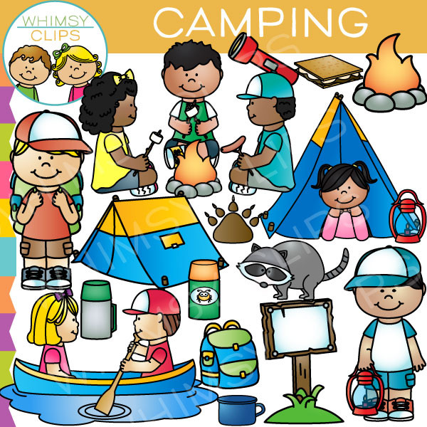 Camper clipart kid campfire Camping clipart Clipart Collection camping