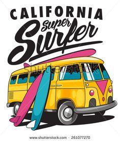 Camper clipart kombi Clip Im Surf vw bus