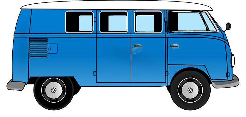Camper clipart kombi Combi Van Blue Volkswagen Van