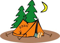 Camper clipart weekend activity Camper Art Clip Retro Camping