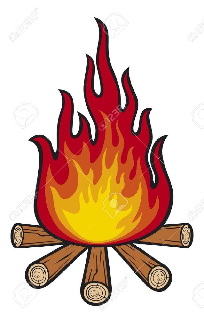 Drawn camp fire fireplace Clipart com fire Campfire art