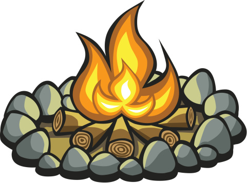 Flames clipart tire smoke Campfire Campfire clipart clipart #17