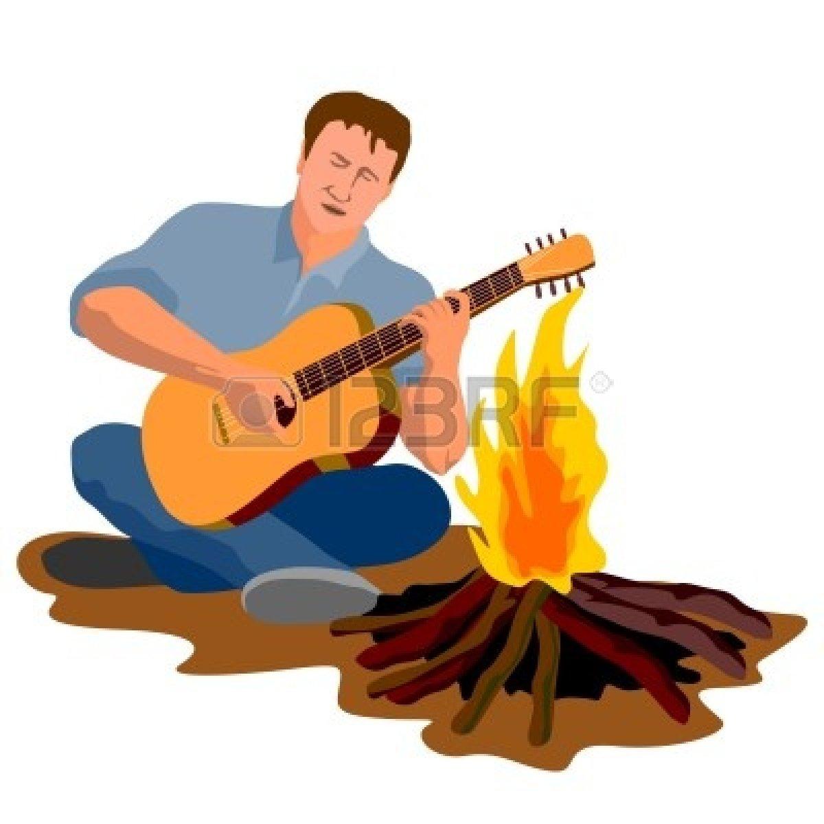 Campfire clipart beach bonfire Cartoon Panda Bonfire Free Images