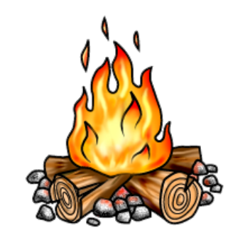 Campfire clipart clear background Campfire Icons art clip Backgrounds