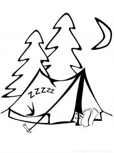 Campire clipart colored Coloring Camping Worksheets But Camping
