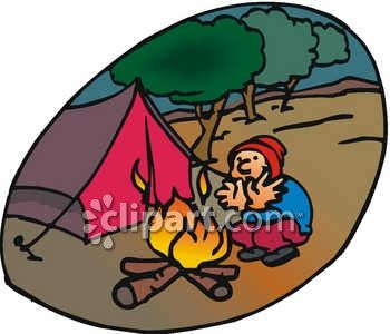 Campire clipart colored Color camp clipart pot Campfire
