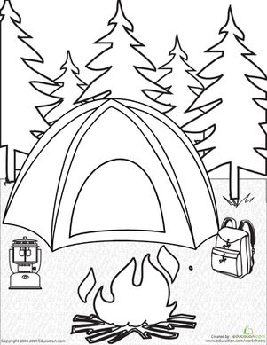 Camping clipart spring activity Crafts for on Page Campfire