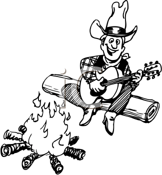 Cowboy clipart campfire  Campfire Clipart Cowboy