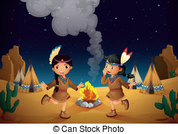 Campfire clipart dance Cute Illustration of dancing couple