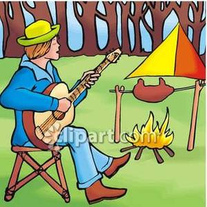 Campfire clipart guitar Royalty Picture By Free Playing