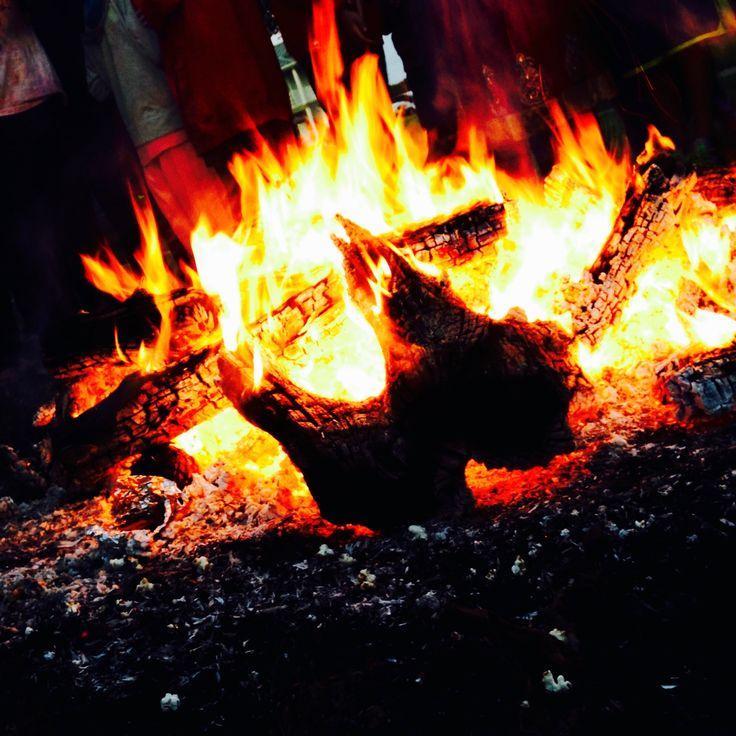 Camp Fire clipart holi Happy