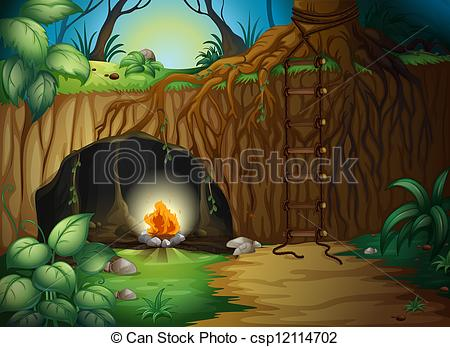 Campfire clipart house fire In in a A A