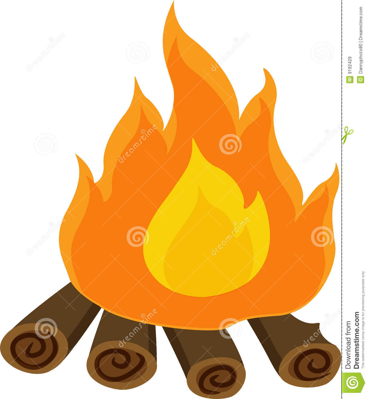 Campfire clipart log fire Logs Images Cartoon With Clipart