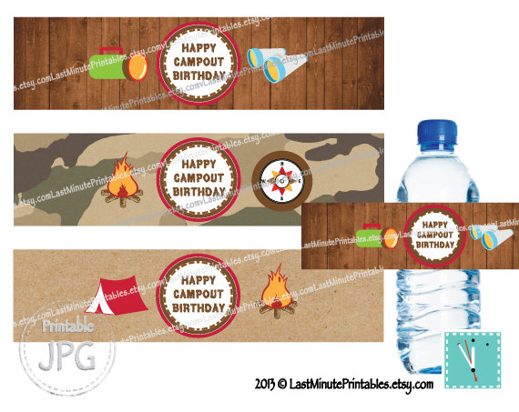 Campfire clipart printable Campfire  party campout collage