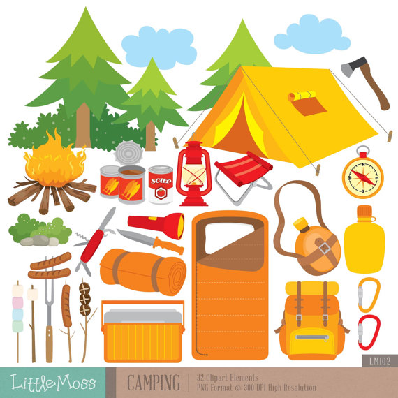 Camper clipart campfire Outdoor Camping from Clipart Digital