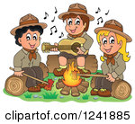 Campfire clipart sing along Singing Campfire Clipart