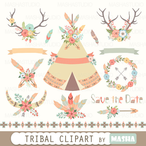 Ivy clipart tribal Clipart tribal dpi feather files