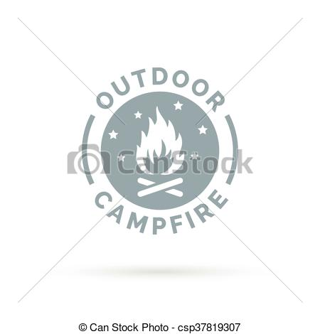 Campfire clipart wood fire Wood csp37819307 campfire with and