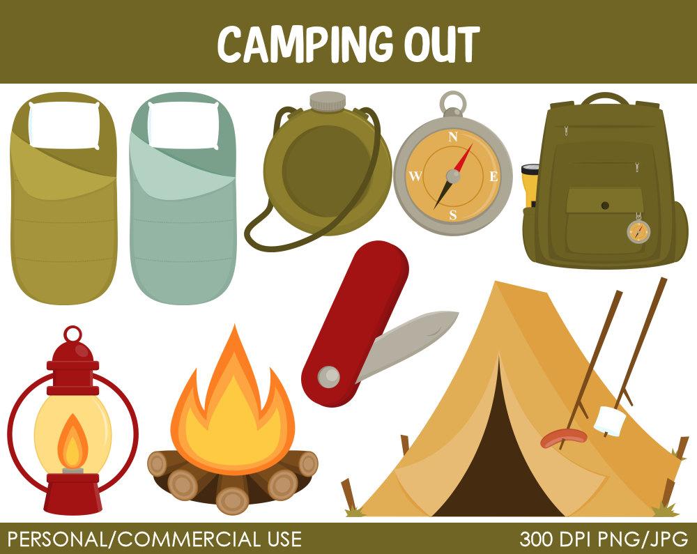 Camper clipart camping gear Camping camping Savoronmorehead clip art