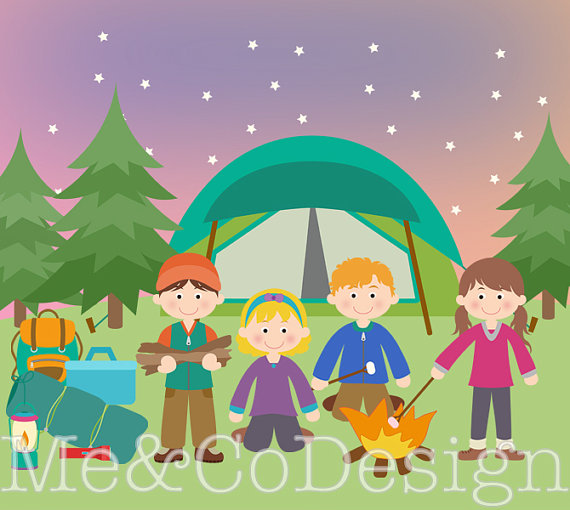 Camper clipart kid campfire Kids Clipart Boy Fun and