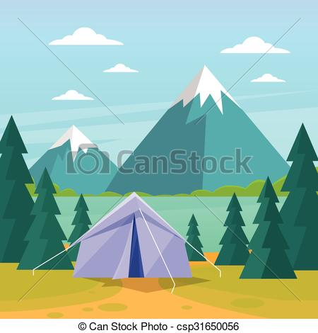 Camping clipart expedition Expedition Tent Mountain csp31650056 Vector