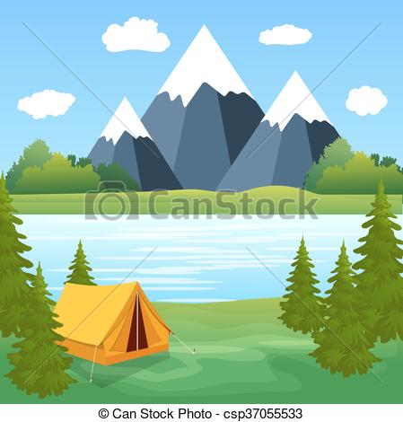 Camping clipart expedition Expedition Tourist travel Vectors Tent